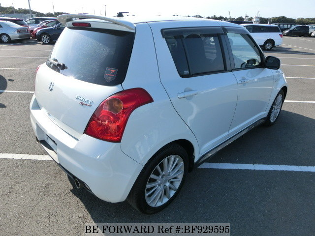 The rear of a used 2005 Suzuki Swift from online used car exporter BE FORWARD.