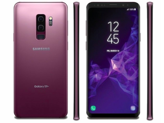 A purple Samsung Galaxy S9 Plus from BE FORWARD.