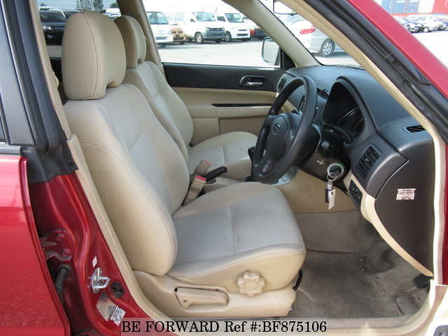 The interior of a used 2005 Subaru Forester from online used car exporter BE FORWARD.