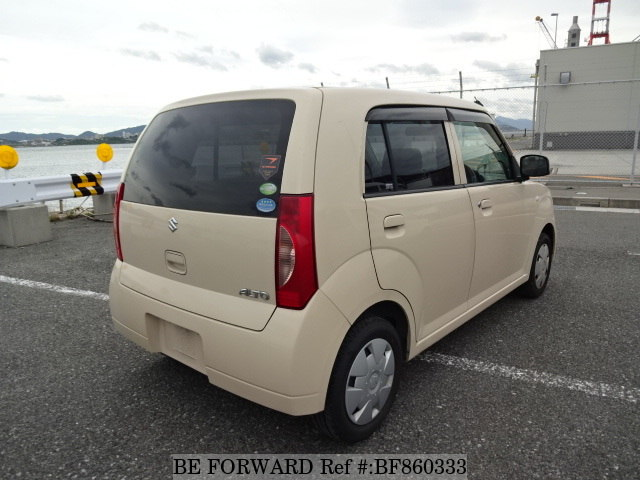 The rear of a used 2008 Suzuki Alto from online used car exporter BE FORWARD.