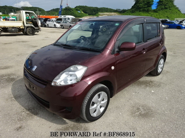 A used 2009 Toyota Passo from online used car exporter BE FORWARD.