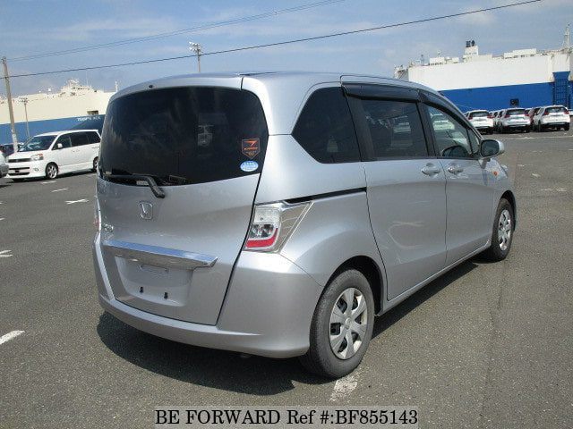 The rear of a used 2013 Honda Freed from online used car exporter BE FORWARD.