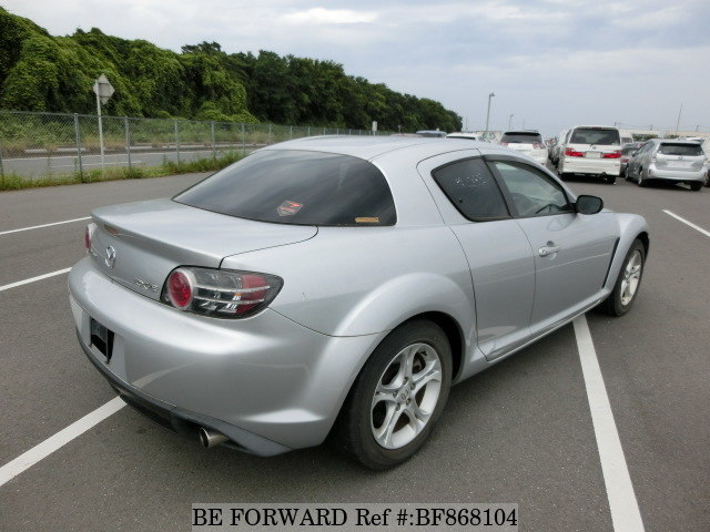 Rear of a used 2007 Mazda RX-8 from online used car exporter BE FORWARD.