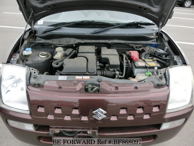 The engine of a used 2007 Suzuki Alto from online used car exporter BE FORWARD.