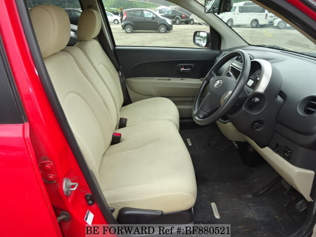Interior of a used 2008 Toyota Passo from online used car exporter BE FORWARD.