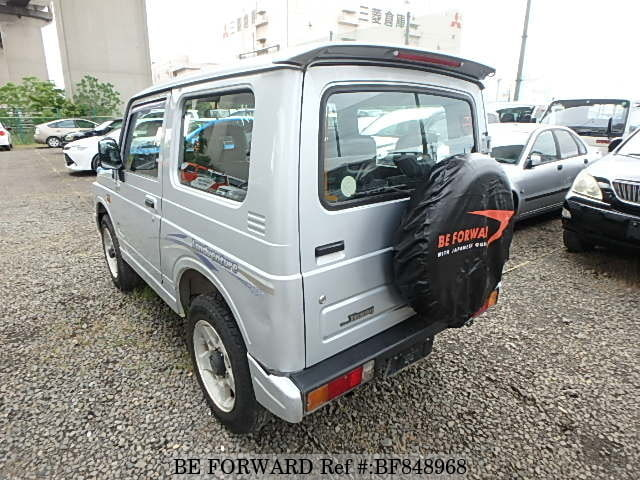 The rear of a used 1997 Suzuki Jimny from online used car exporter BE FORWARD.