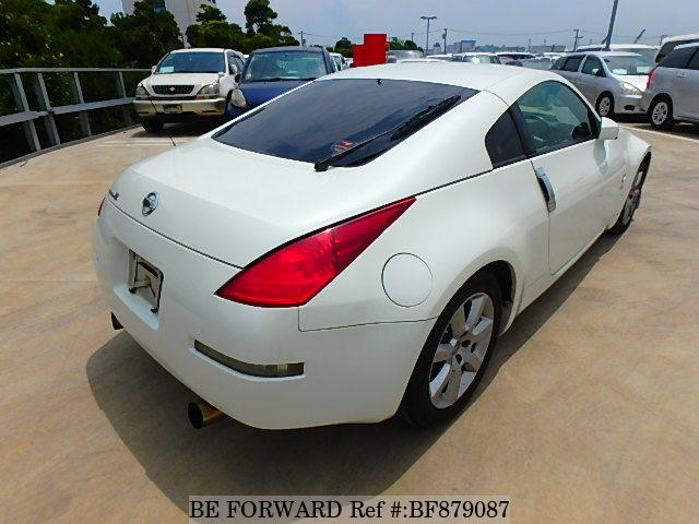 The rear of a used 2002 Nissan Fairlady Z from online used car exporter BE FORWARD.