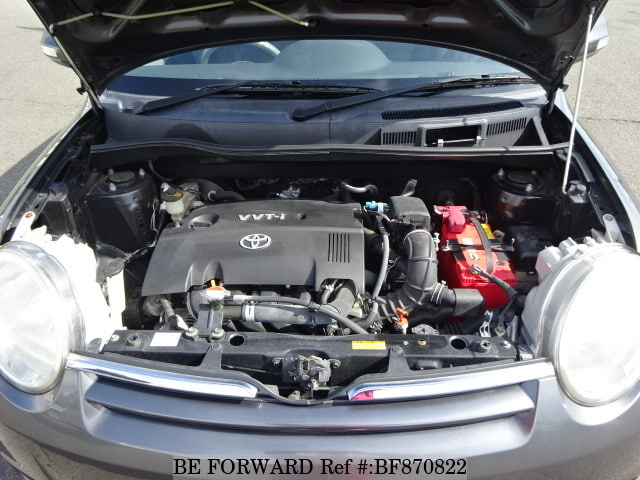 The engine of a used 2008 Toyota Sienta from online used car exporter BE FORWARD.