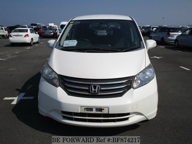 The front of a used 2009 Honda Freed from online used car exporter BE FORWARD.