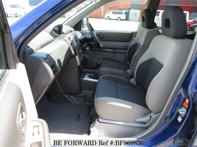The interior of a used 2001 Nissan X-Trail from online used car exporter BE FORWARD.