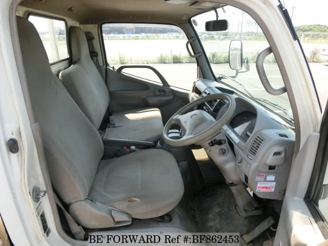 The interior of a used 2005 Hino Dutro Truck from online used car exporter BE FORWARD,