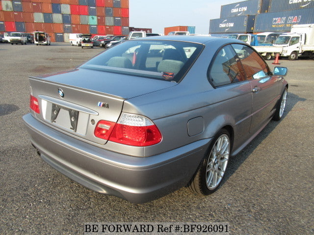 The rear of a used 2004 BMW 3 Series Coupe from online used car exporter BE FORWARD.