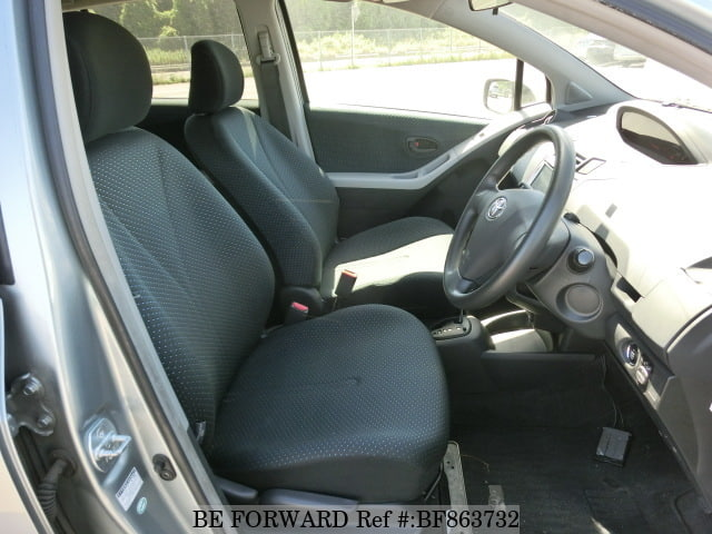 The interior of a used 2007 Toyota Vitz from online used car exporter BE FORWARD.