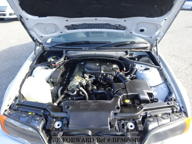 The engine of a used 2000 BMW 3 Series Coupe from online used car exporter BE FORWARD.