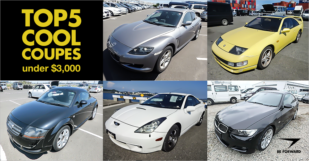Top 5 Cool Coupes Under $3,000 - BE FORWARD