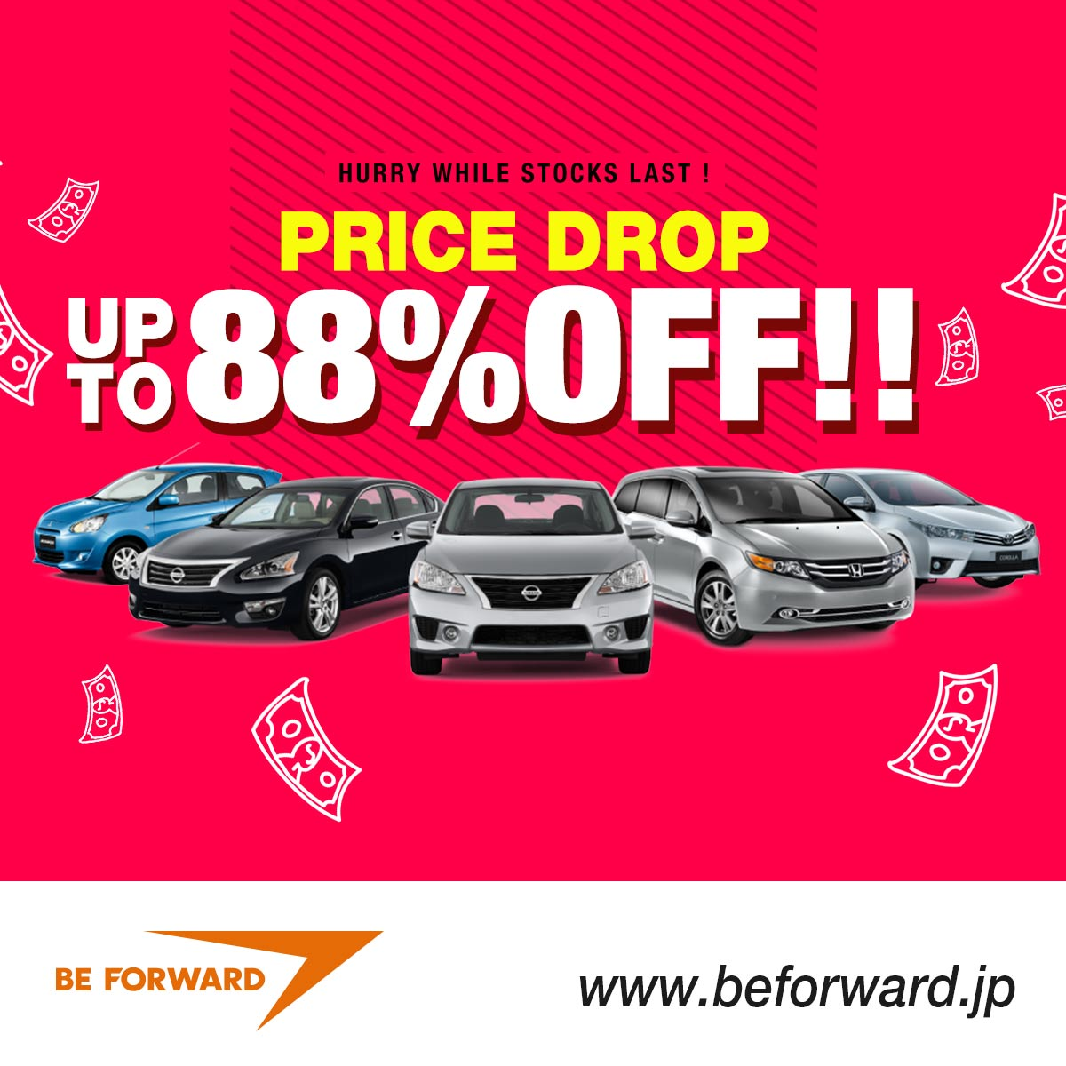 Price Drop Sale - Up to 88% Off Japanese Used Cars