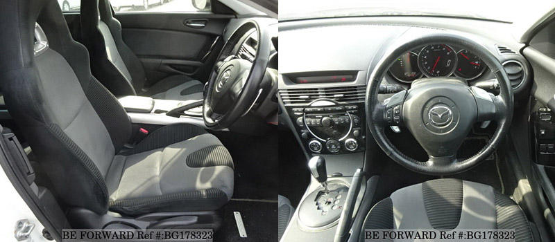 interior of a cool used mazda rx-8 coupe