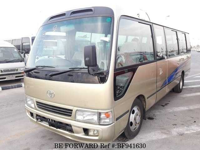 A used 2001 Toyota Coaster from online used car exporter BE FORWARD.