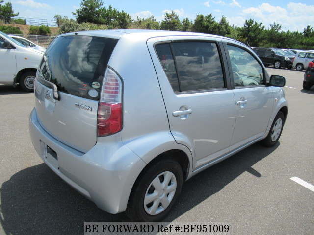 The rear of a used 2008 Daihatsu Boon from online used car exporter BE FORWARD.