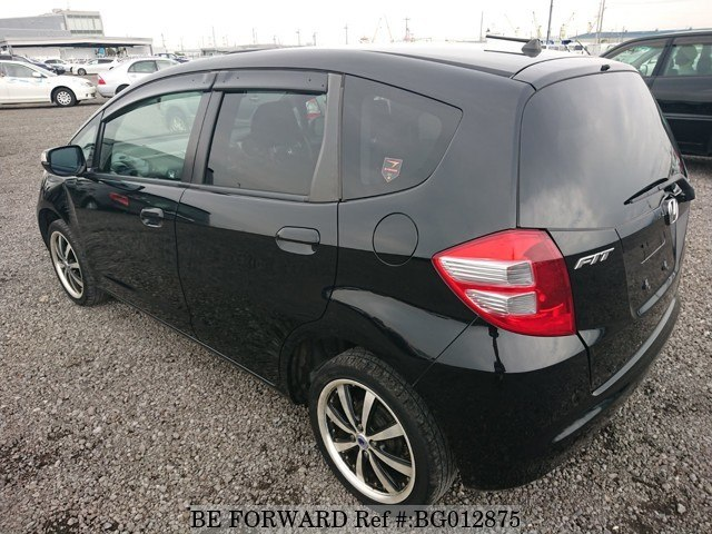 The rear of a used 2009 Honda Fit from online used car exporter BE FORWARD.