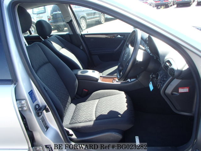 The interior of a used 2001 Mercedes-Benz C-Class from online used car exporter BE FORWARD.