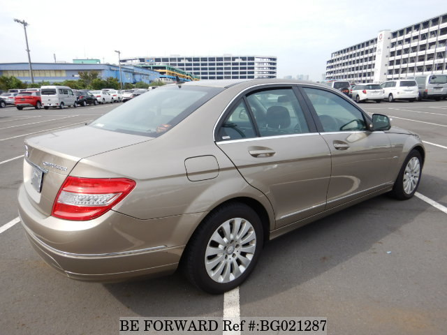 The rear of a used 2009 Mercedes-Benz C-Class from online used car exporter BE FORWARD.