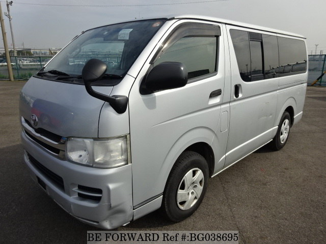 front of a used toyota regiusace hiace alternative from be forward