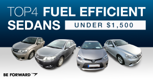 fuel efficient sedans for under $1,500