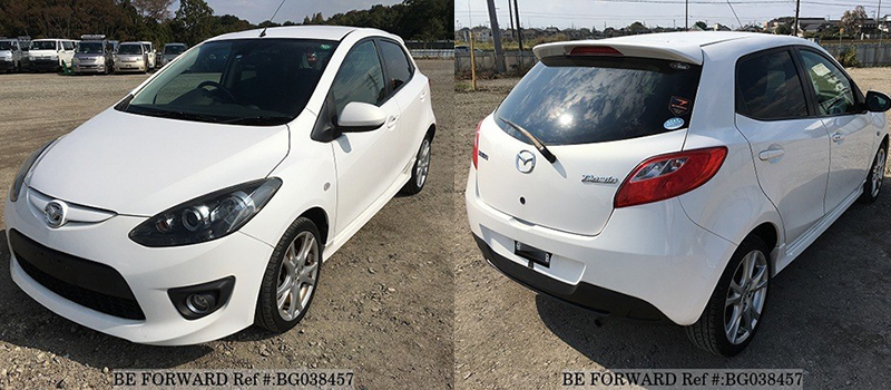 cheap fuel efficient demio front and back