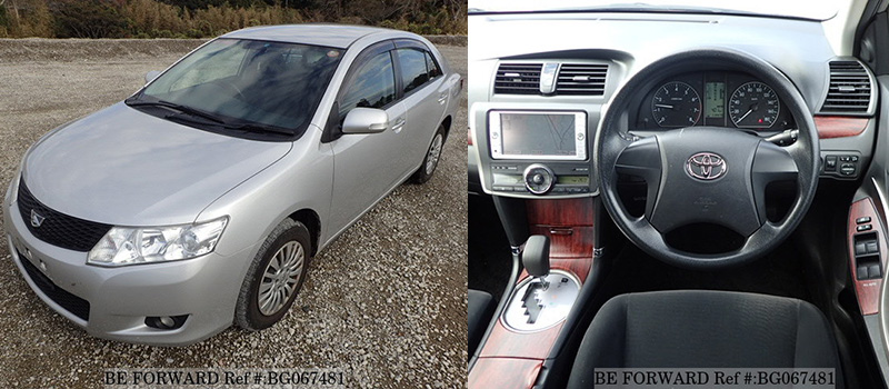 interior and exterior of a used Toyota allion for under $1,500