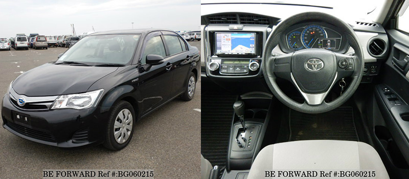 interior and exterior of a used Toyota axio for under $1,500