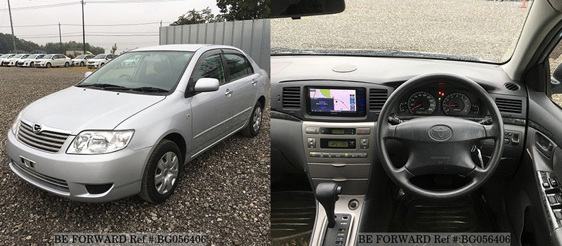 interior and exterior of a used Toyota corolla sedan for under $1,500