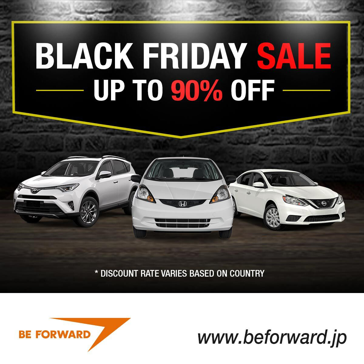 Black Friday Sale - Find Japanese used cars up to 90% off!