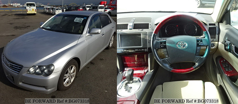 interior and exterior of a used Toyota mark x for under $1,500