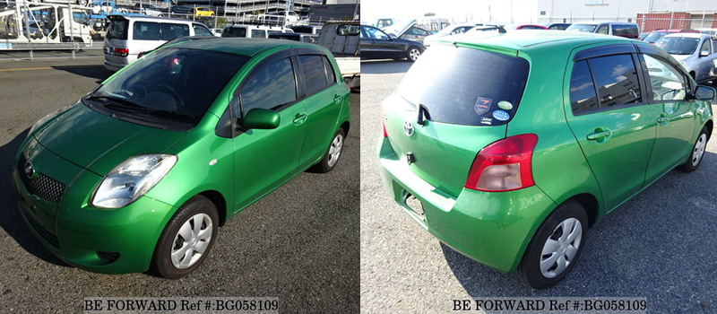 cheap fuel efficient used toyota vitz exterior