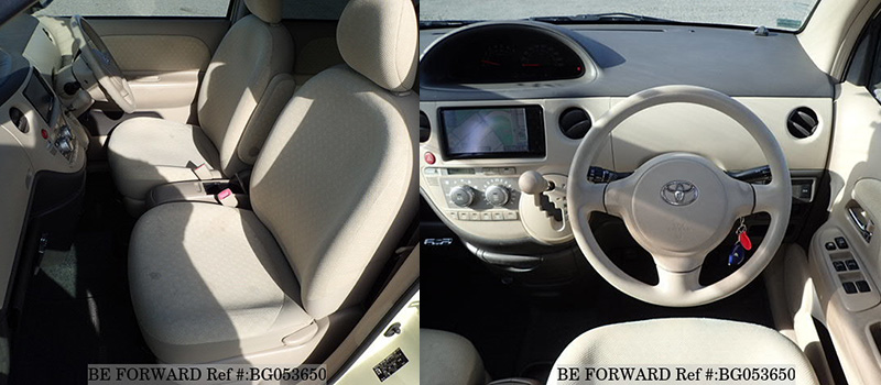 interior of a used cheap fuel efficient toyota sienta from BE FORWARD