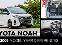 Toyota Noah 2001-2009 Model Year Differences, Improvements & Features