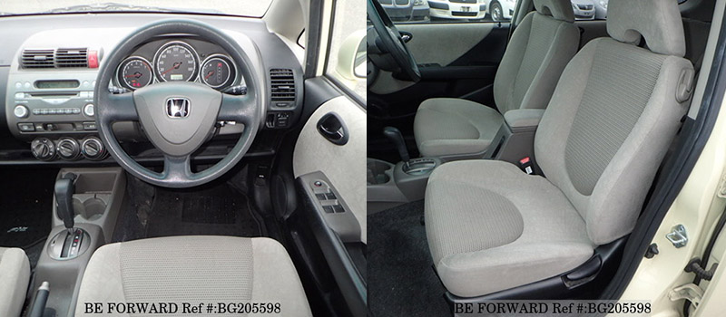 interior of a used honda fit vs toyota vitz