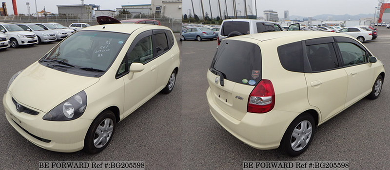 exterior of a honda fit vs toyota vitz