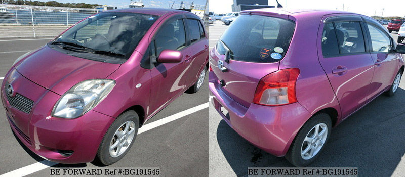 exterior of a toyota vitz vs honda fit