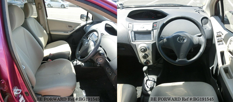 interior of a used toyota vitz vs honda fit