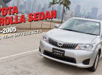Toyota Corolla Sedan Review: 2000-2005 Model Year Changes and Differences