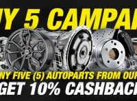 【Auto parts BUY 5 Campaign】Buy Five (5) Auto parts and Get 10% Cashback!